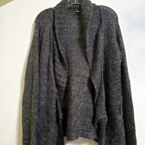 Express Mohair Blend Charcoal Grey Silver Cardigan